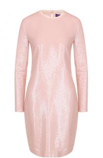Шелковое мини-платье с пайетками Ralph Lauren