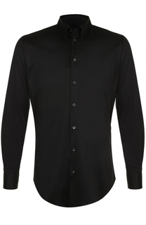 Хлопковая сорочка с воротником button down Giorgio Armani