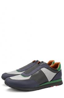 Комбинированные кроссовки без шнуровки Bally