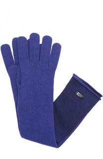 Удлиненные перчатки из шерсти и вискозы Armani Collezioni