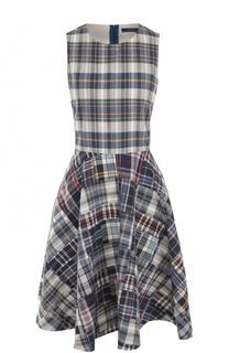 Приталенное платье-миди в клетку Polo Ralph Lauren