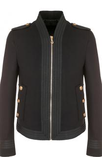 Шерстяная приталенная куртка на молнии Dolce & Gabbana