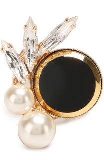 Кольцо с кристаллами Swarovski и жемчужинами Anton Heunis