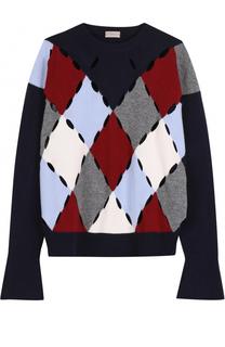 Шерстяной пуловер с круглым вырезом MRZ