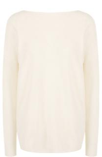 Кашемировый пуловер с V-образным вырезом на спинке Polo Ralph Lauren