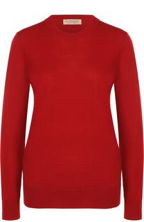 Шерстяной пуловер с круглым вырезом Burberry