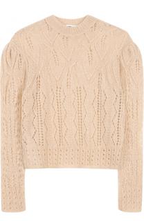 Пуловер фактурной вязки с круглым вырезом MCQ