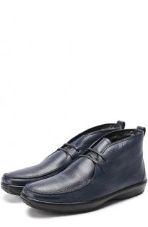 Кожаные ботинки на шнуровке с внутренней меховой отделкой Aldo Brue