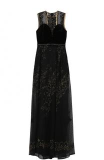 Кружевное платье-макси без рукавов Elie Saab