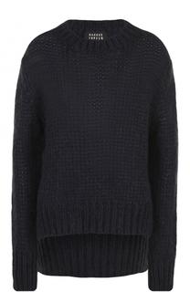 Пуловер фактурной вязки с круглым вырезом Markus Lupfer