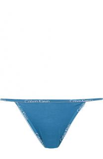Хлопковые трусы с логотипом бренда Calvin Klein