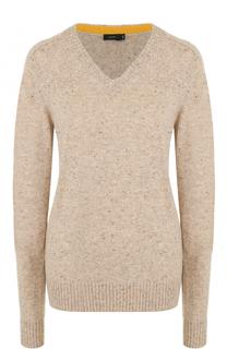 Шерстяной пуловер с V-образным вырезом Joseph
