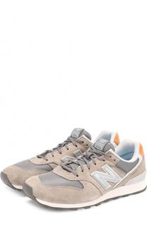Замшевые кроссовки 996 с текстильной вставкой New Balance