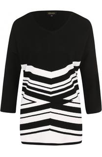 Пуловер с укороченным рукавом и V-образным вырезом Escada