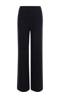 Шерстяные расклешенные брюки фактурной вязки MRZ