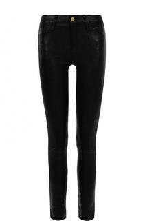 Кожаные брюки-скинни Frame Denim