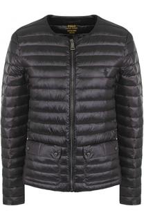 Стеганая пуховая куртка с круглым вырезом Polo Ralph Lauren