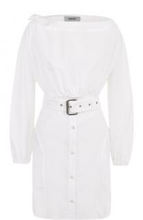 Удлиненная хлопковая блуза с поясом Rachel Comey