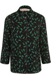 Блуза с принтом и укороченным рукавом Marni
