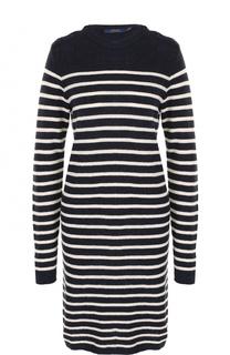 Вязаное платье прямого кроя в полоску Polo Ralph Lauren