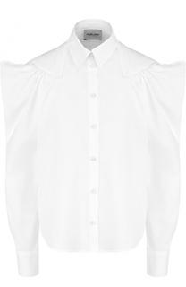 Хлопковая блуза с рукавом-фонарик Rachel Comey
