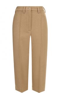 Укороченные шерстяные брюки Mm6