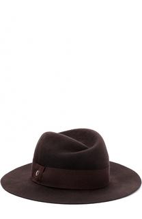 Шерстяная шляпа с лентой Armani Collezioni