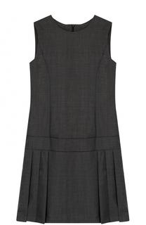 Шерстяное платье со складками без рукавов Dal Lago