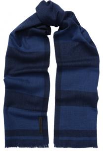Шерстяной шарф с необработанным краем Ermenegildo Zegna