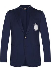 Шерстяной однобортный пиджак Billionaire