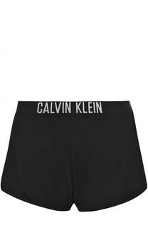 Хлопковые шорты с логотипом бренда Calvin Klein
