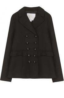 Укороченное пальто из шерсти с оборками Burberry