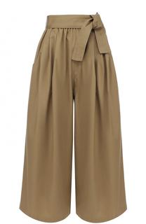Укороченные широкие брюки с поясом Tome