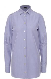 Хлопковая блуза в полоску Kiton