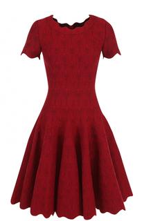 Приталенное мини-платье с фактурной отделкой Alaia