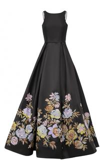 Приталенное платье-макси с цветочным принтом Basix Black Label