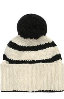 Вязаная шапка из кашемира с помпоном The Elder Statesman