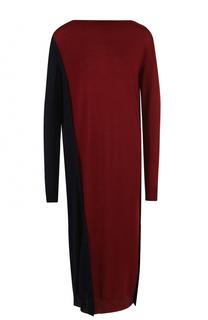 Шерстяное платье-миди прямого кроя Marni