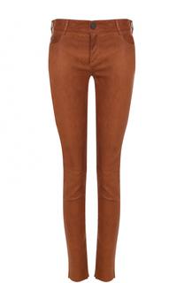 Кожаные брюки-скинни DROMe