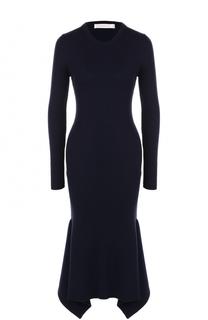 Вязаное платье-миди с длинным рукавом Victoria Beckham