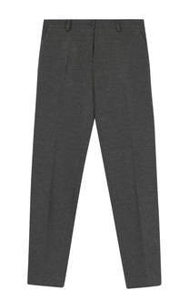 Однотонные брюки прямого кроя Dal Lago