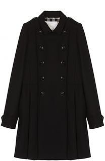 Двубортное пальто с защипами Burberry