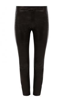 Укороченные кожаные брюки REDVALENTINO