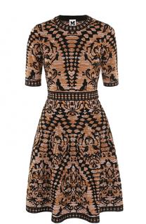 Вязаное платье-миди с укороченным рукавом M Missoni