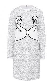 Платье прямого кроя с круглым вырезом Victoria by Victoria Beckham