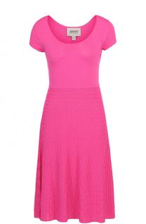Вязаное платье-миди с круглым вырезом Armani Collezioni