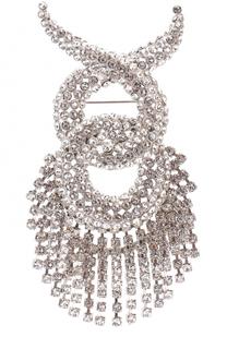 Комплект из броши-кулона и цепочки с кристаллами Swarovski Balenciaga