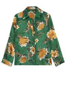 Блуза с цветочным принтом и укороченным рукавом Alice + Olivia