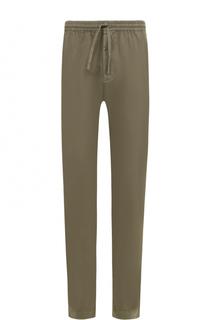 Хлопковые брюки прямого кроя с поясом на резинке Tomas Maier