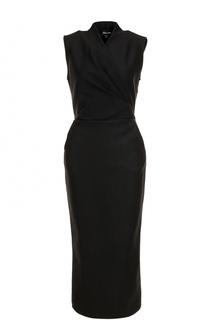 Приталенное платье-миди с драпировкой Giorgio Armani